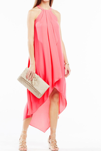 Bcbg - Lanna high-low draped ruffle dress