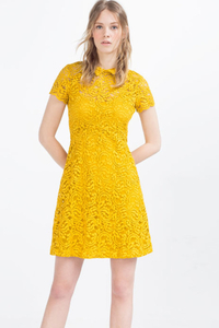 Zara - Lace dress with flounce skirt