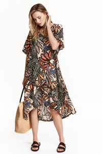 H & M - Patterned Viscose Dress