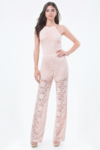 Bebe - Lace Crisscross Jumpsuit