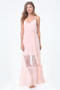 Bebe - Lace Trim Maxi Dress